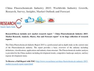 China Fluorochemicals Industry 2015 Market Research Report