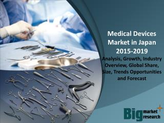 Medical Devices Market in Japan 2015 - Size, Trends, Growth & Forecast to 2019