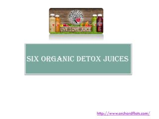Six Organic Detox Juices