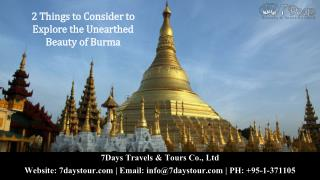 2 things to consider to explore the unearthed beauty of burma with a burma tour company