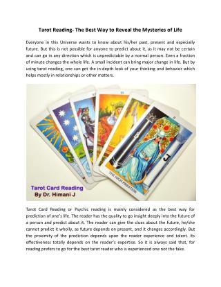 Best Tarot Card Reader in Jaipur, India | Tarot Prediction