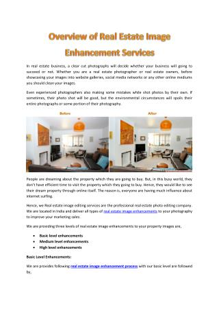 Overview of Real Estate Image Enhancement Services, real estate image editing company