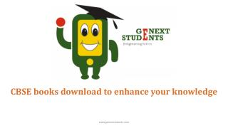 CBSE books download to enhance your knowledge