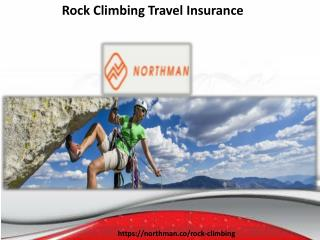 rock climbing travel insurance