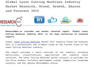 Global Laser Cutting Machines Industry 2015 Market Research Report