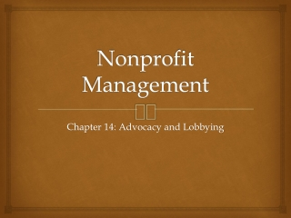 Lobbying Rules for Nonprofit Organizations and