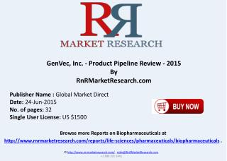 GenVec Inc. Product Pipeline Review 2015