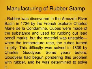 Merchem MD   Manufacturing of Rubber Stamp