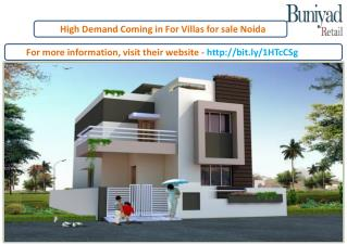 High Demand Coming in For Villas for sale Noida