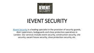 Event Security Companies