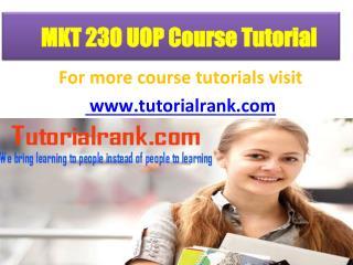 MKT 230 UOP Course Tutorial/TutorialRank