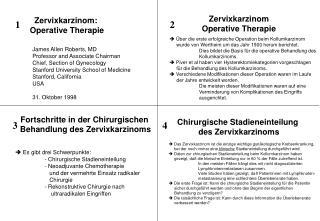 Zervixkarzinom:  Operative Therapie