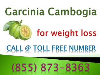 (855) 873-8363 Garcinia Cambogia Reviews