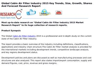 Global Cabin Air Filter Industry 2015 Market Research Report