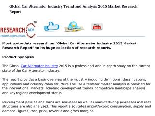 Global Car Alternator Industry 2015 Market Research Report