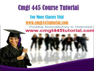 CMGT 445 Courses / cmgt445tutorialdotcom