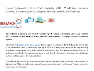 Global Automotive Drive Axle Industry 2015 Market Research Report
