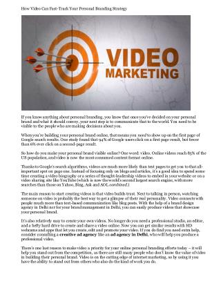 How Video Can Fast-Track Your Personal Branding Strategy