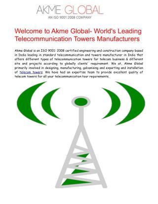 Telecom Towers Manufacturers India