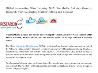 Global Automotive Glass Industry 2015 Market Research Report