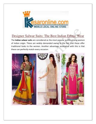 Indian Salwar Suits Online Shopping in Canada