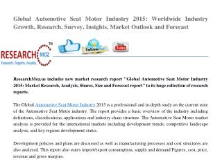 Global Automotive Seat Motor Industry 2015 Market Research Report