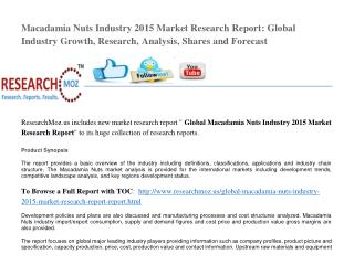 Global Macadamia Nuts Industry 2015 Market Research Report