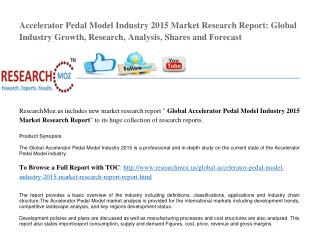 Global Accelerator Pedal Model Industry 2015 Market Research Report