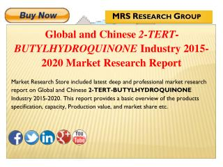 Global and Chinese 2-tert-butylhydroquinone (CAS 1948-33-0) Industry 2015 : Market Analysis, Share, Analysis, Overview,