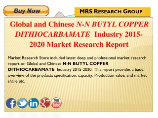 Global and Chinese N-N Butyl copper dithiocarbamate (CAS 13927-71-4) Industry 2015: Market Analysis, Share, Analysis, Ov