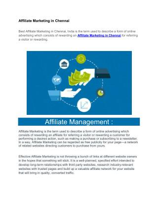 Affiliate Marketing in Chennai