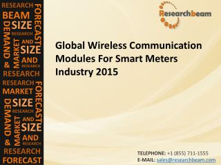 Global Wireless Communication Modules For Smart Meters Industry 2015