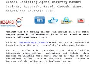 Global Chelating Agent Industry 2015 Market Research Report