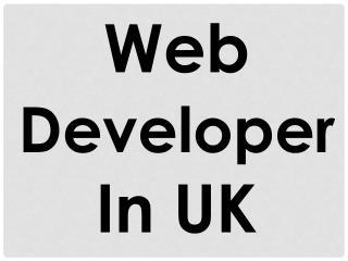 Web Developer In UK