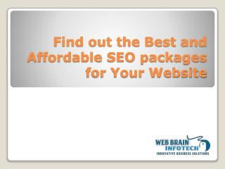 Affordable SEO Packages India, Reseller SEO Packages