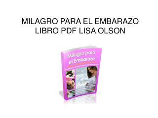 Milagro para el Embarazao libro pdf Lisa Olson