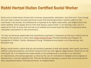 Rabbi Hertzel Illulian Certified Social Worker
