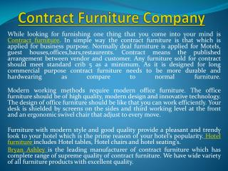 Contract Furniture Company
