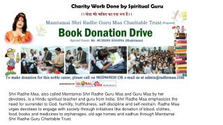 Charity Work Done by Spiritual Guru