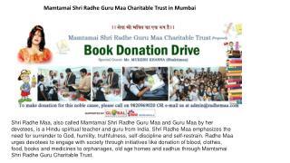 Mamtamai Shri Radhe Guru Maa Charitable Trust in mumbai