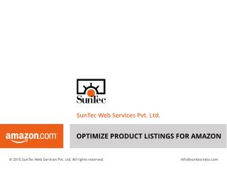 Amazon Product Listing Optimization Services