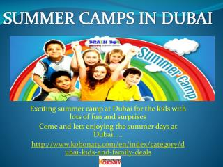 #Summer#Camps#in Dubai#