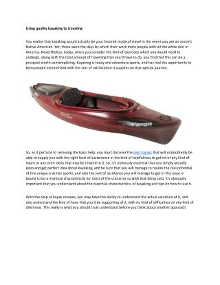 kayak reviews