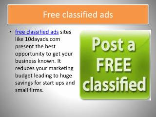 free classified ads sites like 10dayads.com
