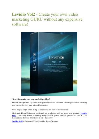 SECRETS revealed of Levidio 2.0   – Detail review and bonus