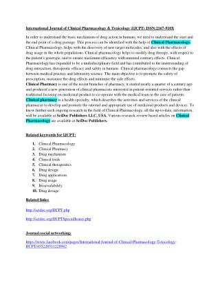Toxicology journal