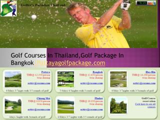 Golf Courses In Thailand,Golf Package In Bangkok|Pattayagolfpackage.com