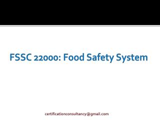 FSSC 22000: Food Safety System
