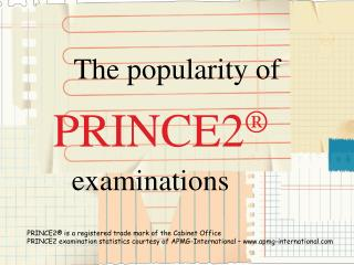 PRINCE2 popularity grows!