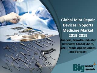 Global Joint Repair Devices in Sports Medicine Market 2015-2019 - Market Size, Share, Growth & Opportunities